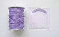 ラメ四季の糸 淡紫400cm 水引素材(材料)