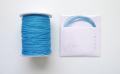 ラメ四季の糸 ブルー400cm 水引素材(材料)