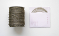 ラメ四季の糸 黒金400cm 水引素材(材料)