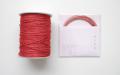 ラメ四季の糸 赤400cm 水引素材(材料)