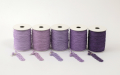 《6点以上お買い上げでまとめ割!対象商品》 ラメ四季の糸400cm 紫1~5 水引素材(材料)