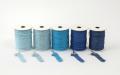 《6点以上お買い上げでまとめ割!対象商品》 ラメ四季の糸400cm 青1~5 水引素材(材料)