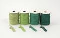 《6点以上お買い上げでまとめ割!対象商品》 ラメ四季の糸400cm 緑1~4 水引素材(材料)