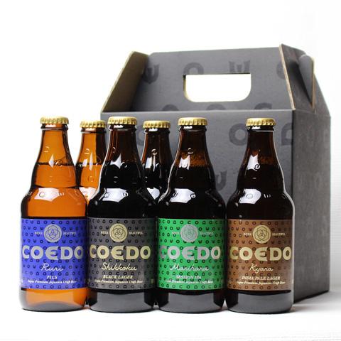 コエドビール瑠璃漆黒毬花伽羅6本セット