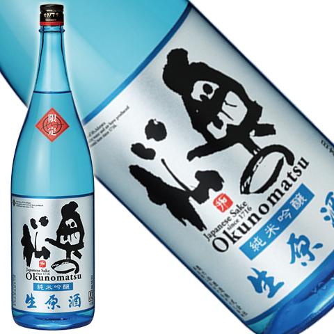 奥の松 純米吟醸生原酒 1800ml