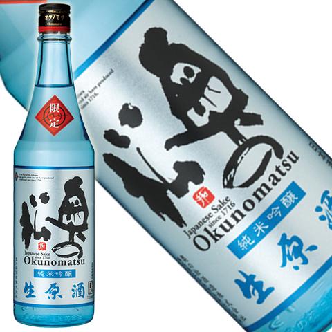 奥の松 純米吟醸生原酒 720ml