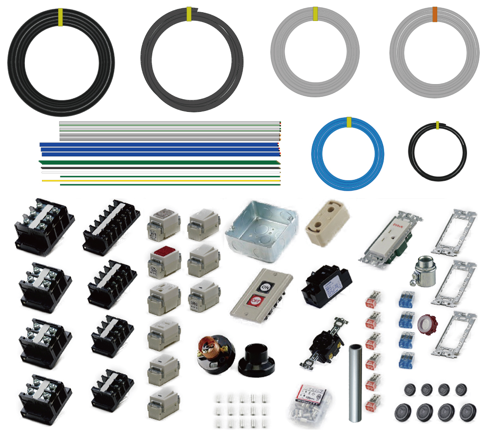 準備万端シリーズ 2020年度 第一種電気工事士 技能試験練習用材料 全10問分の器具・電線セット (1回練習分)