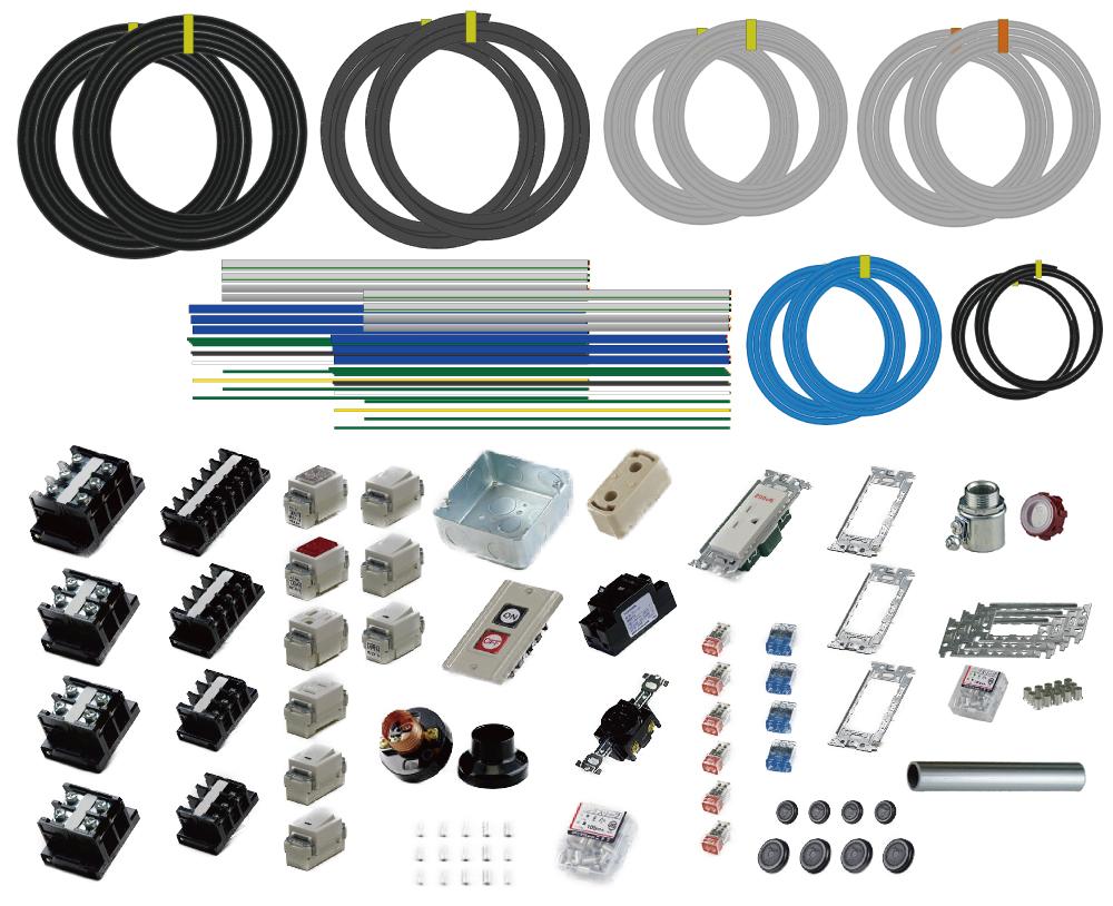 準備万端シリーズ 2020年度 第一種電気工事士 技能試験練習用材料 全10問分の器具・電線セット (2回練習分)