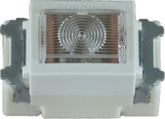 埋込連用パイロットランプ 白色 NDG4111 東芝 【電気工事士試験材料】【バラ売り】