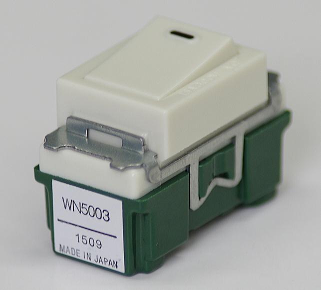 埋込連用タンブラスイッチ(両切) WN5003 パナソニック 【電気工事士試験材料】