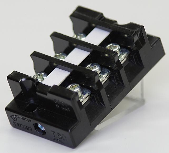 端子台 50A3P 型番T30C03 春日電機 第一種電気工事士技能試験練習用材料