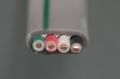 絶縁ビニルシースケーブル平形 1.6mm 4心 (VVF) (白黒赤緑)