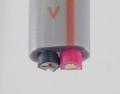 絶縁ビニルシースケーブル平形 2.0mm 2心 黒赤 (VVF)