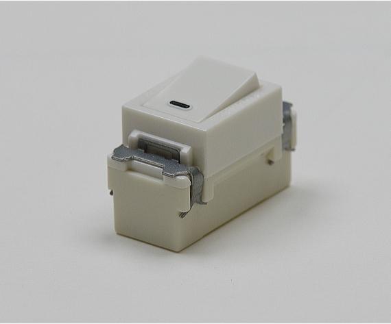 埋込連用タンブラスイッチ(片切) NDG1111 東芝 【電気工事士試験材料】