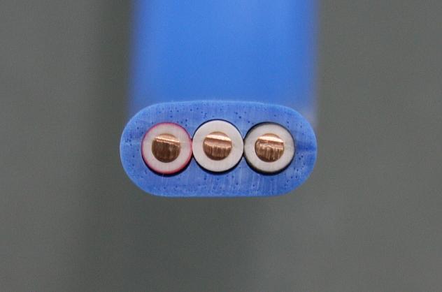 絶縁ビニルシースケーブル平形シース青 2.0mm 3心 (VVF)