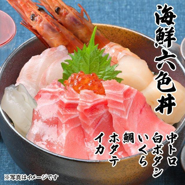 海鮮 6色丼