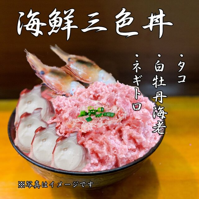 海鮮 3色丼