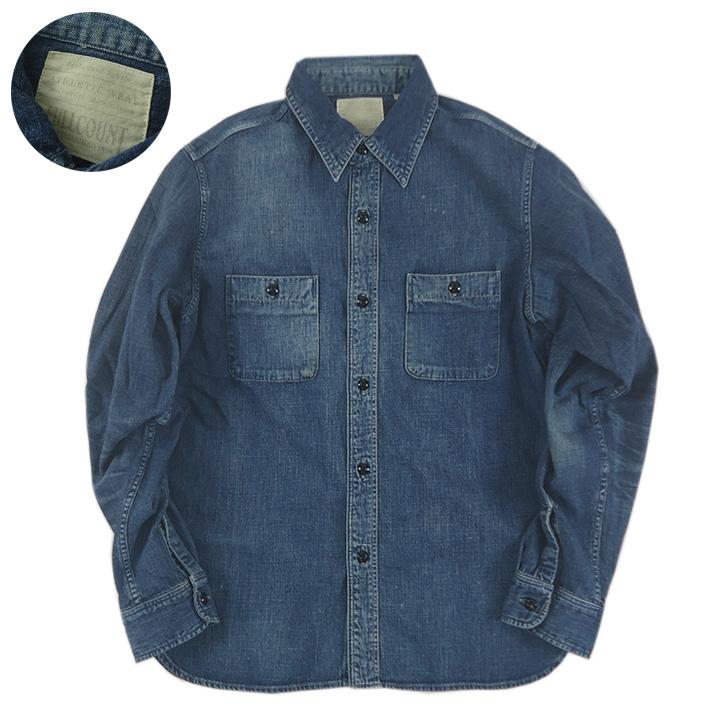 FULLCOUNT フルカウント デニムワークシャツ ハンドウォッシュ DENIM WORK SHIRTS 4890HW  -JOE-