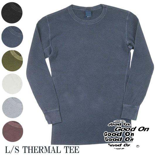 Good On グッドオン サーマルロングスリーブTシャツ ピグメントダイ THERMAL-LS  【サーマル・ワッフル】 -JOE-
