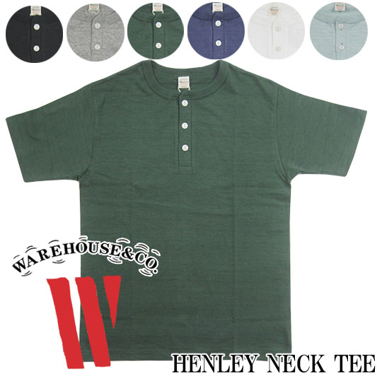 WAREHOUSE ウエアハウス Lot.4601 ヘンリーネック Tシャツ  【半袖Tシャツ】 -JOE-