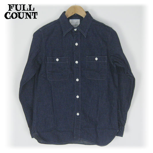 FULLCOUNT フルカウント デニムワークシャツ DENIM WORK SHIRTS FC-4890 -JOE-