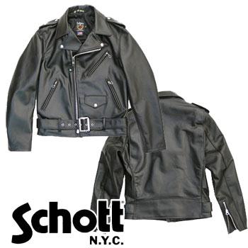 SCHOTT ONE-STAR 613USS ショットワンスター ダブルライダースジャケット サテンライニング -JOE-