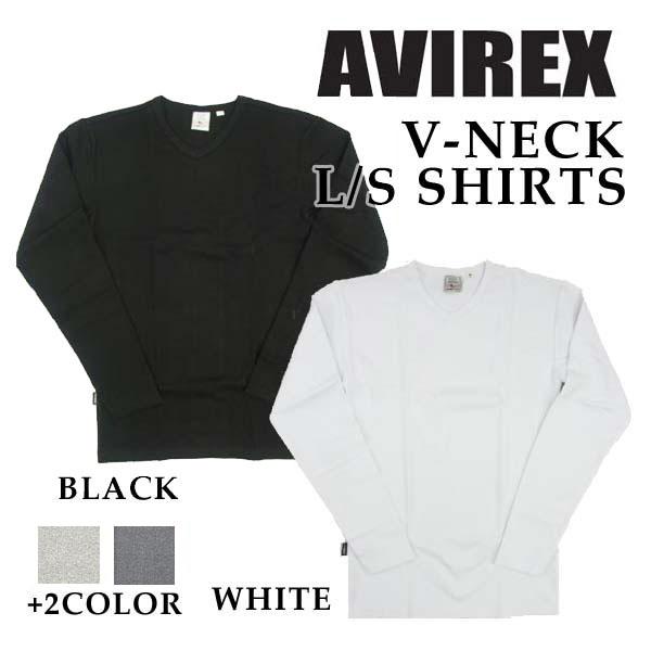 avirex Vネック ロンT