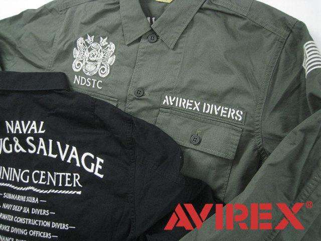 アヴィレックス ワークシャツ