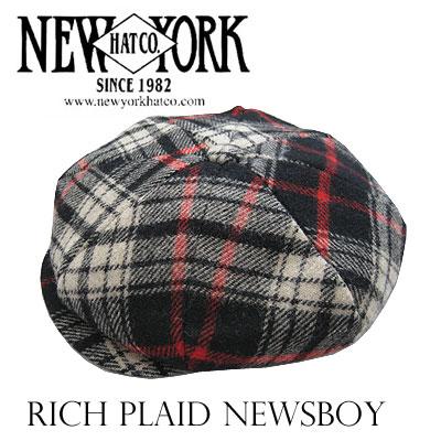 ニューヨークハット リッチプレイド ニュースボーイ 9027