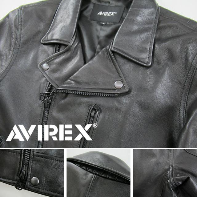 AVIREX ダブルライダースジャケット