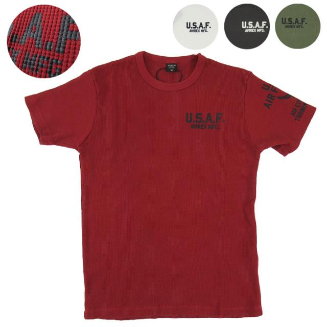 avirex ワッフルTシャツ