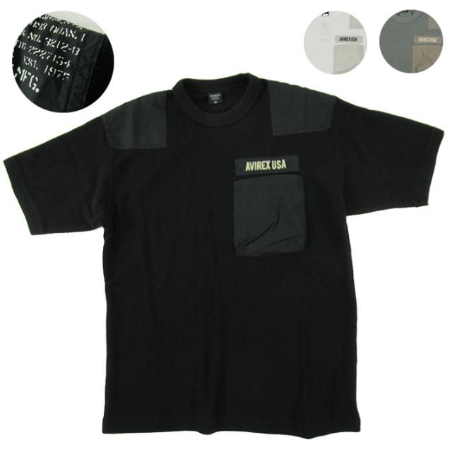 avirex リブTシャツ