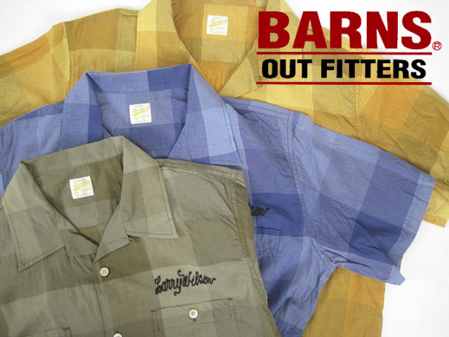 BARNS オープンカラーシャツ