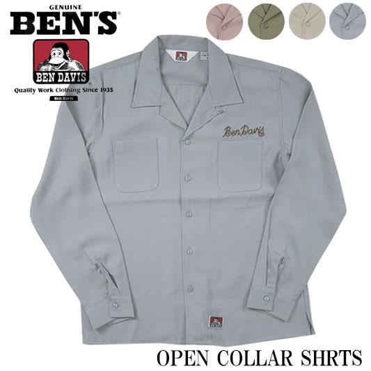 ベンデイビス 開襟シャツ