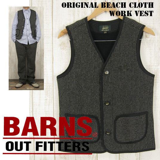 BARNS バーンズ オリジナル ビーチクロス ワークベスト BEACH CLOTH WORK VEST BR-5454 -JOE-