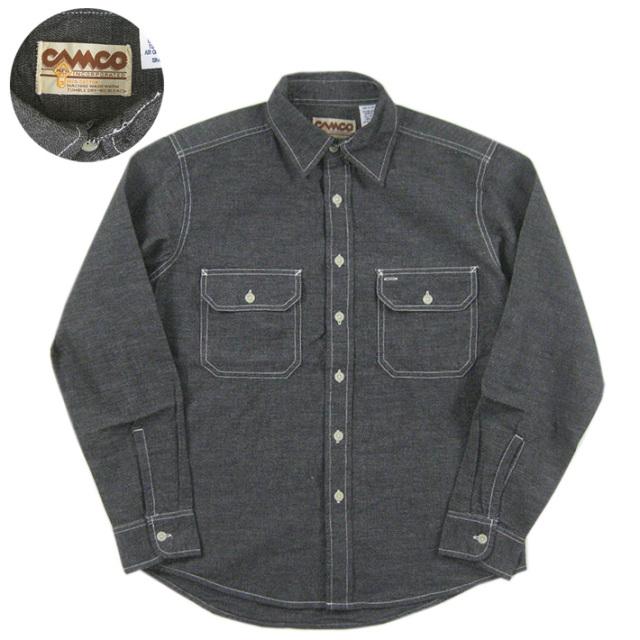 カムコ シャンブレーシャツ ブラック