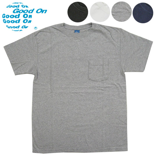 Good On グッドオン クルーネック ポケット半袖Tシャツ ピグメントダイ CREW-NECK-POCKET-SS  【半袖Tシャツ】 -JOE-