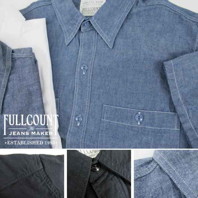 フルカウント 半袖 シャンブレーシャツ