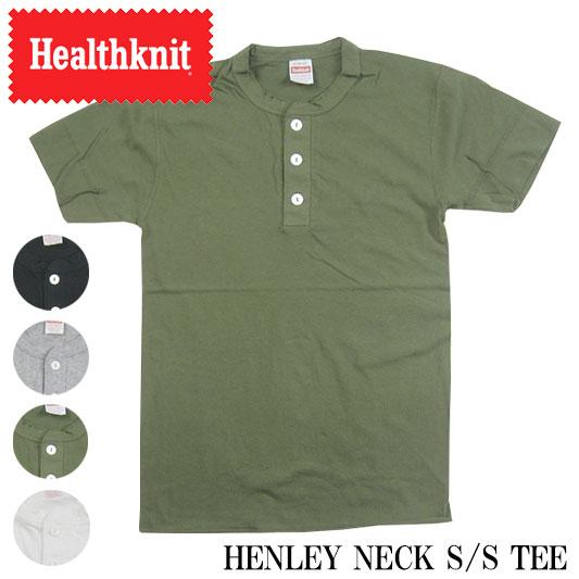 ヘルスニット ヘンリーネックTシャツ