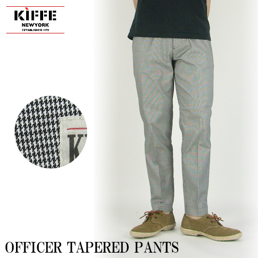 KIFFE OFFICER TAPERD PANTS 【off price】 -JOE-