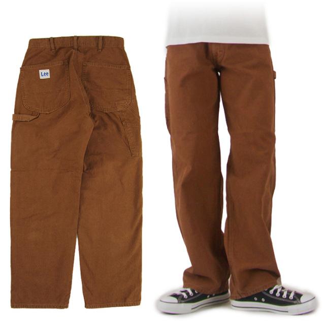 Lee ペインターパンツ ブラウン DUNGAREES BROWN PAINTER PANTS LM7288-168  -JOE-