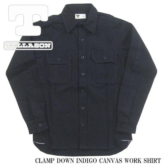 テラソン インディゴ キャンバスワークシャツ