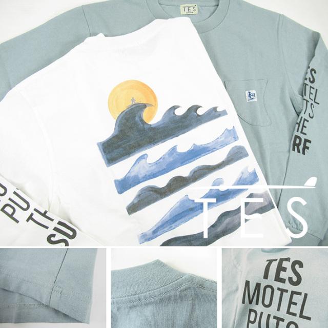 TES サーフ Tシャツ ロンT