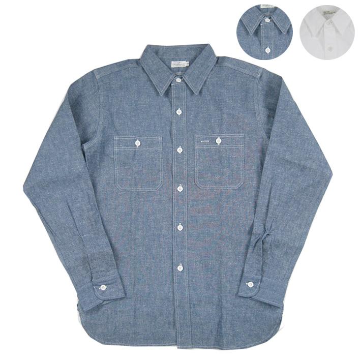 ウエアハウス シャンブレー ワークシャツ