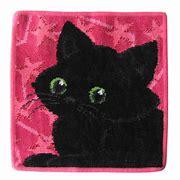 フェイラータオルハンカチ Black Cat