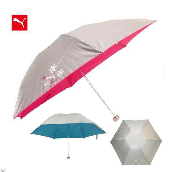 PUMA 婦人用プーマシルバーコーティング ミニ折り畳み傘(全2種)