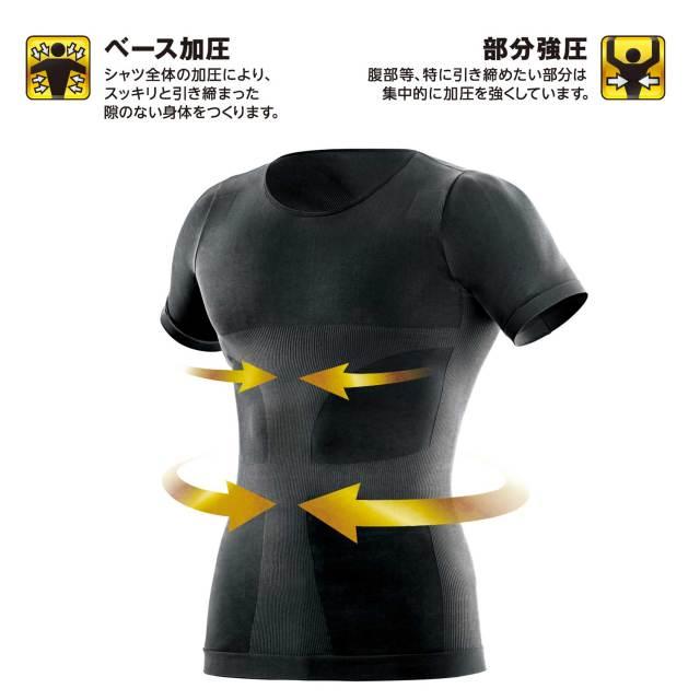 La-VIE(ラ・ヴィ)強圧加圧シャツ黒M