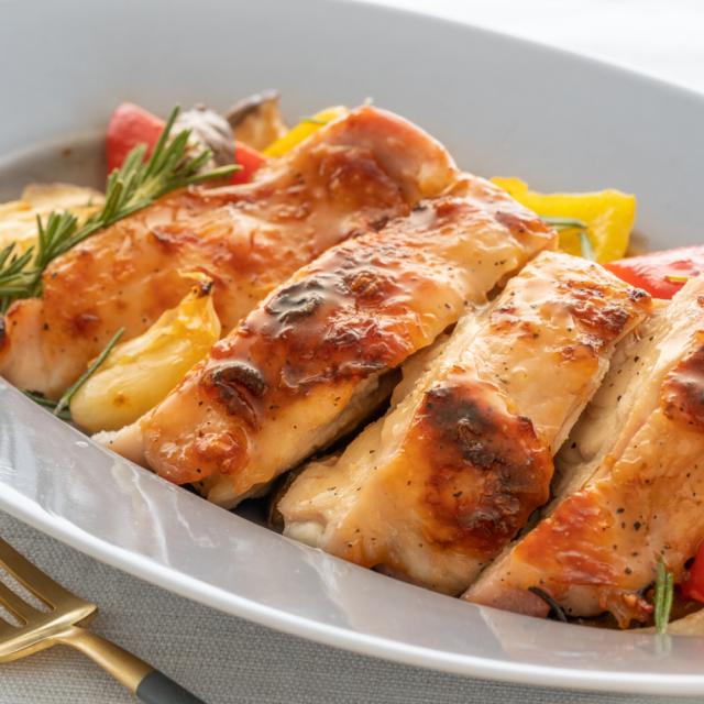 ローストチキンと野菜のグリル