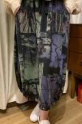 滲み 森林柄 変形 スカート