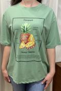 Italy Pineapple パイナップル キラキラ 半袖 Tシャツ